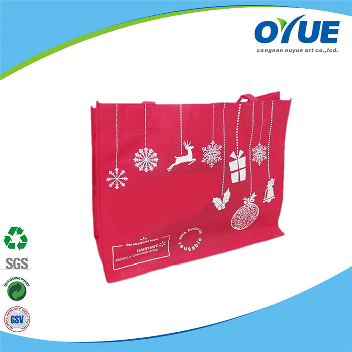 OEM Production Recyclable reusable non woven foldable shopping bag