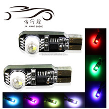 New Colorful Car T10 Crees RGB 194 w5w No Error Canbus Led Car Light