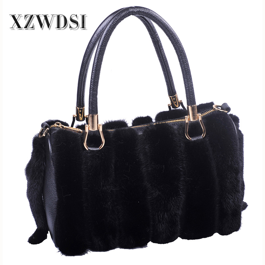 CX-H-57 Breathable Women Custom Designer Mink Handbag With Decorate