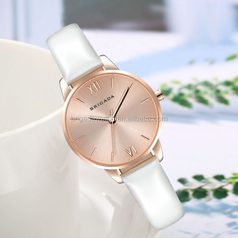 Watch women 2016 stainless steel back quartz watch, women fashion hand watch leather watches for women
