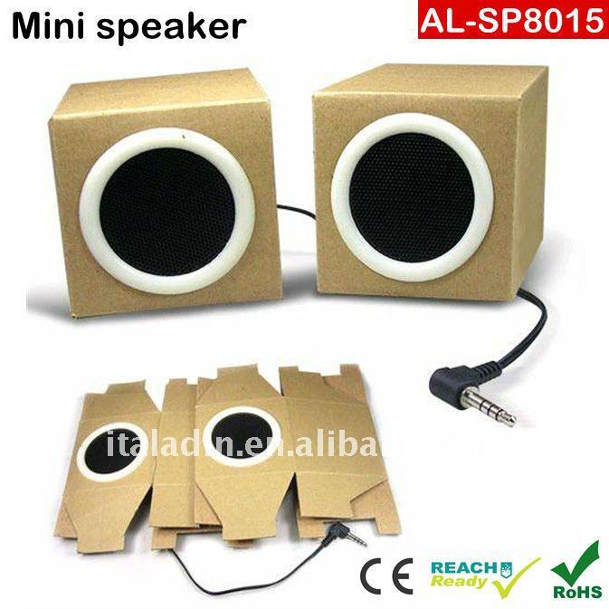 Mgitec Best selling Speaker Foldable Gift Recycled Paper Craft Audio Speaker for promotion