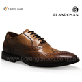 Classic men vintage oxford style genuine leather sole Goodyear dress leather shoes for man