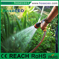 Chinese Factory High Quality 8 Patterns Expandable Garden Hose Pipe Hand Spray Nozzle Gun
