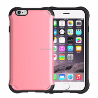 Hard shiny PC plastic back cover dual layer shockproof soft TPU gel bumper case for iPhone 6s/ 6s plus