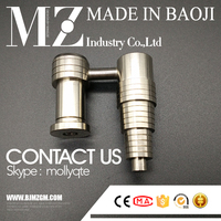 6 in 1 size fit 10mm 14mm 18mm male and female joint Titanium E-nail