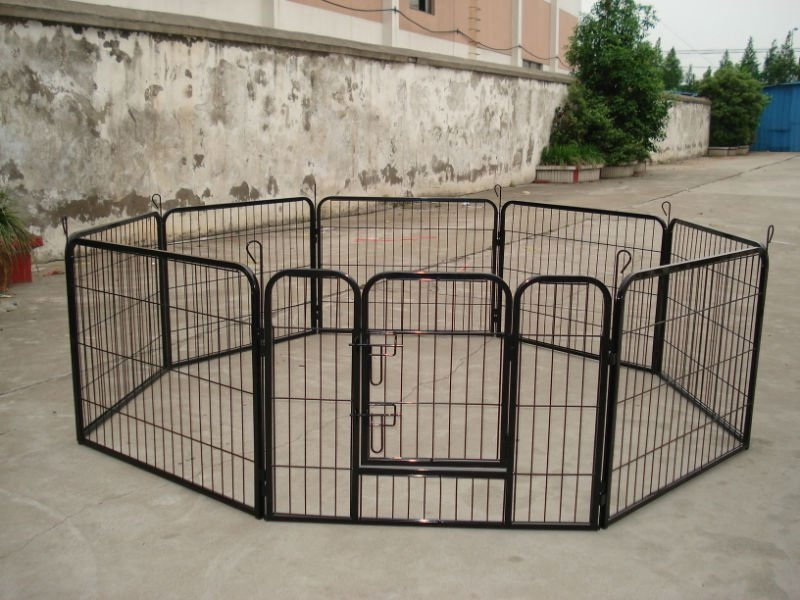 square tube dog play pen