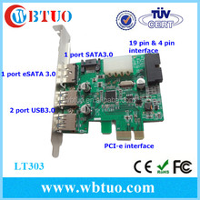 Wholesales pci-e to 2port USB 3.0 1 port Esata 1 port sata connector