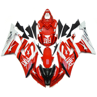 Injection Fairings For Yamaha YZF 600 R6 08 09 10 11 12 13 14 15 ABS Plastic Motorcycle Fairing Kit FIAT White Red Body Kit