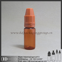 Hot sale 10ml pe jar plastic vial container pe eliquid e cigarettes essential oil bottle with printing label