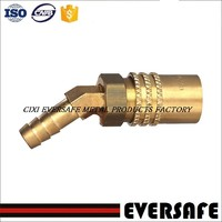45 degree brass elbows mold cooling quick coupler for parker and foster interchange