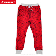 New material wholesale custom print mens sweat pants slim joggers