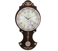Hot Selling Old Grand Father Wooden Pendulum Wall clock with Wholesale Price