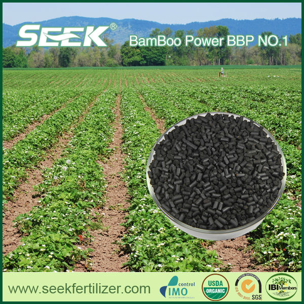 Sustainable farming biochar fertilizer manufacture