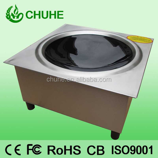 2014 hotpot built in induction wok stove low price for commercial restaurant