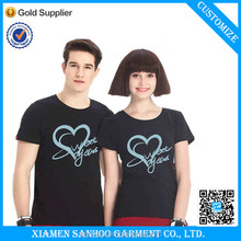 Factory Price OEM Printed Couple T Shirts Soft Cotton Top Quality Bulk Blank Screen Printing