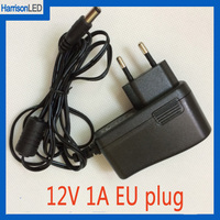 CE FCC approved AC to DC 12V 1A 1000mA 12W real current Europe EU plug wall charger power adapter 5.5*2.1mm