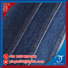 High qality cotton polyester denim fabric slub jeans fabric for bags