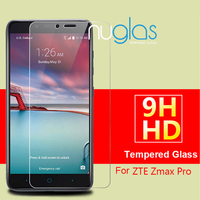 OEM packaging factory custom made tempered glass screen protector for ZTE Zmax Pro Z981