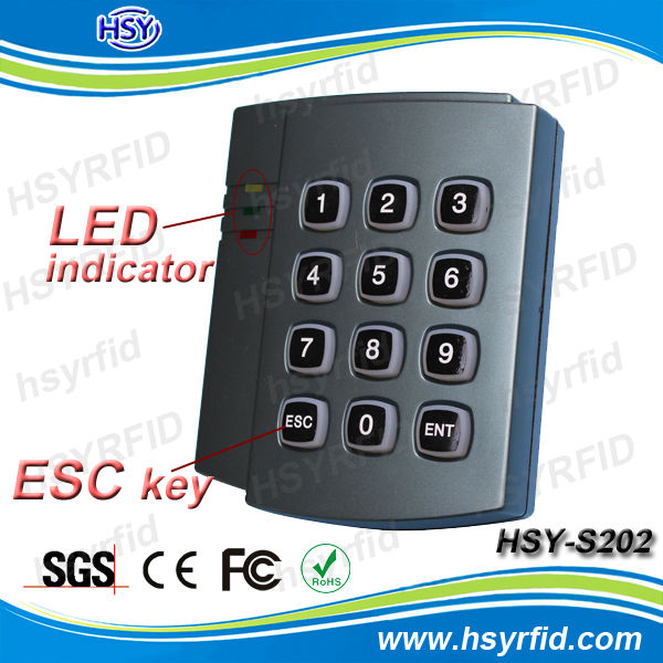 HSY-S202 High quality oem order RFID 13.56mhz or 125khz Door Lock Access Control System