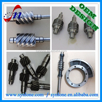 OEM Forging and machining worm shaft for Farm machinery