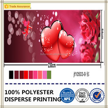 romantic 3d heart printing fabric microfiber 100% polyester dyed bedding set fabric