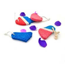 Body cleaning & massage tool foot shape/heart shaped pumice stone