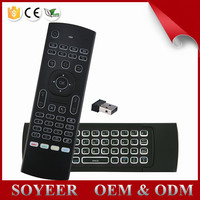 Factory derectly supply mx3 wireless keyboard backlit 2.4g wireless 6 axes gyro air mouse