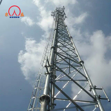 Steel structure galvanized 3-legs triangular angle-steel telecommunication tower