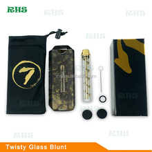 7 pipe vaporizer dry herb Twisty glass blunt, Alibaba Express Smoking pipes weed glass blunt from China Suppliers