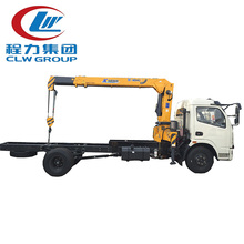 Dngfeng 2 to 3 tons loading capacity crane cargo Truck for sale