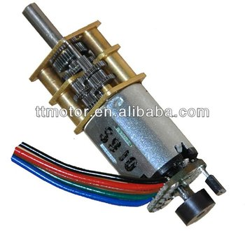 5V 12mm low rpm dc geared motor with encoder