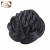top selling black synthetic hair bun /hair bun with comb/black hair bun pieces