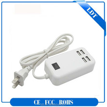 ABS +PC universal highquality 4 port wall charger