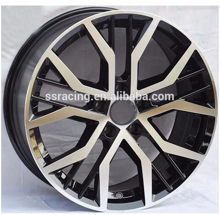 "15"" 16"" 17"" and 18"" black machine face car alloy <strong>wheel</strong> for Golf"