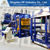 QT6-15 Jumbo cavity block making machine, concrete hollow automatic blocks machine
