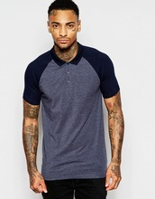 Men's Raglan Sleeve Muscle Fit Dark Grey two button plain polo t shirts