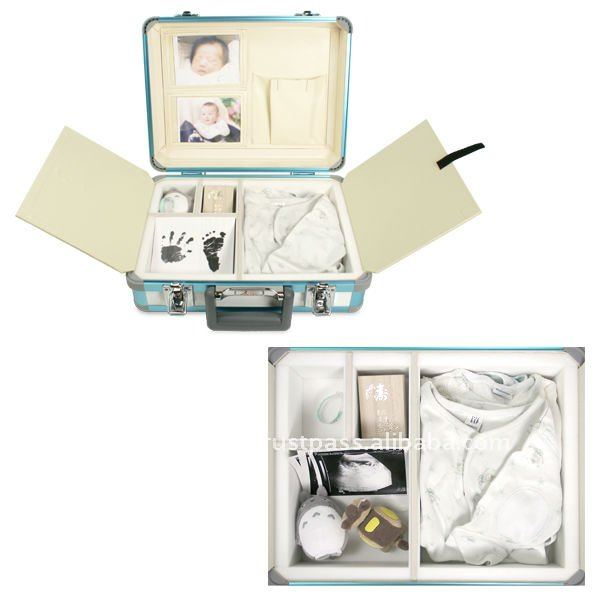 Aluminum souvenir baby first collection case for memorial goods and gift Made in Japan