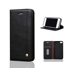 Crazy Horse Leather Material 360 Full Cover Flip Case For iPhone 5s
