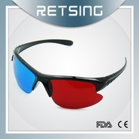Thicken Lenses Plastic 3D Glasses Red Blue Red Cyan Lenses