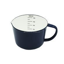enamel measuring mug sized at 500ml