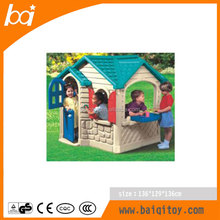 Indoor Jungle Play House Style Cheap Kids Picnic Plastic Playhouse with Door and Window