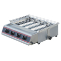 Gas Smokeless Kebab BBQ Grill With Height Adjustable Wire Grill 6 Burner (Roaster)