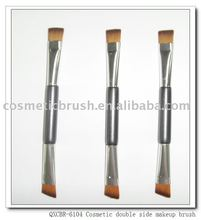 QXCBR-7106 double end angular eyeshadow brush (FSC wood)