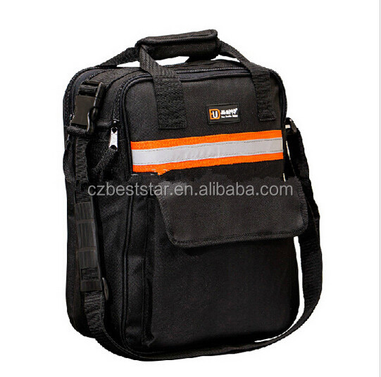 Electrical and computer shoulder thickened tool bag