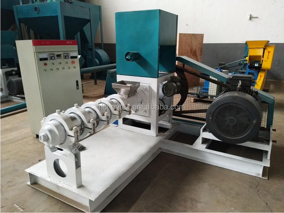 commercial animal feed industry soya bean extruding machine/corn extruded meal extruder