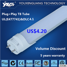 high quality lights & lighting 120lm/w 2160LM 18w 1.2m 4ft led t8 LED tubes compatible ballast