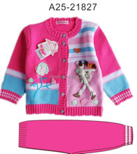 Latest Design Knitted Cotton Girls Casual Wear