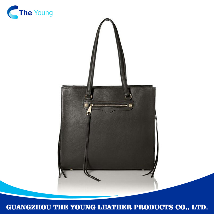 Summer fashion ladies mini real leather tote bag OEM