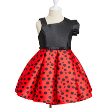 Best selling fashion polka dot kids birthday party baby princess 3-5 year old girl dress