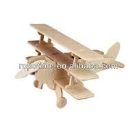 Plane Wooden Toy DIY 3D Educational Solar Model - Triplane